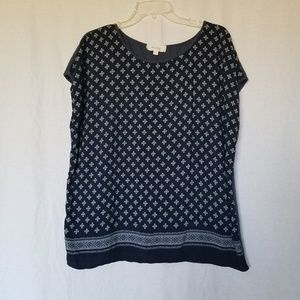 TWO BY VINCE CAMUTO PAISLEY PRINT TOP SIZE L.